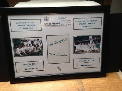 Leeds United 1972 & 1968 Cup Final  Signed by COOPER & CLARK  ORIGINAL REPRINT