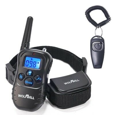 WOLFWILL Remote Pet Dog Training Collar,300 Yards Rechargeable Waterproof with