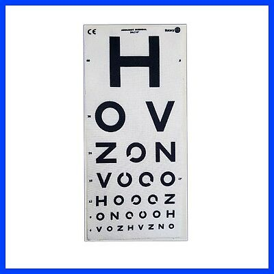 Snellen Small Pocket EYE TEST VISION CHART for Opticians - Pack of 25