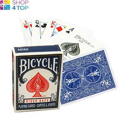 Bicycle Rider Back Mini Standard Index Poker Playing Cards Magic Tricks Blue New