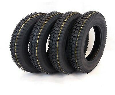 4x 300x8 Black Block Tread Mobility Scooter Tyres 3.00-8 Powerchair & Cordoba