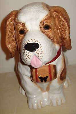 NEW YuYu St. Bernard Dog Puppy Cookie Jar Neiman Marcus 2011 Limited Edition