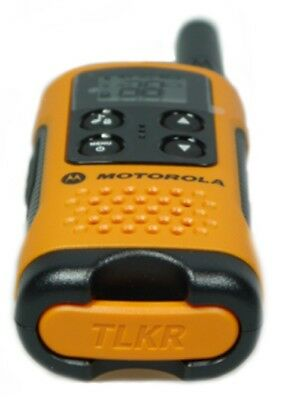 Motorola TLKR T41 2 Way Walkie Talkie - Orange 2 Pack