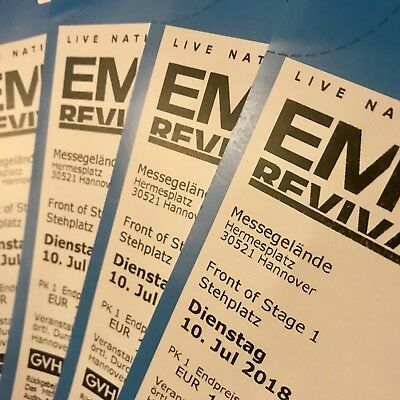 FOS Stehplatz Tickets FRONT OF STAGE 1 EMINEM Revival Tour Hannover 10.07.2018