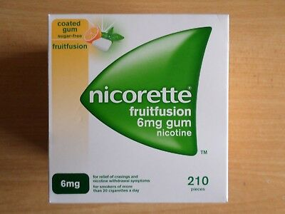 Nicorette Fruitfusion Gum 6 mg, 210 Pieces