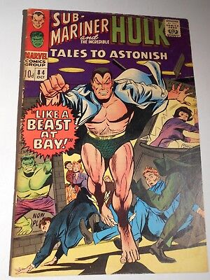Tales To Astonish #84 Oct 1966 Silver Age Marvel Comics Sub-Mariner Hulk
