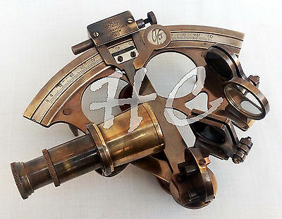 Maritime Nautical Brass Sextant Vintage Astrolabe Marine Antique Ship Instrument