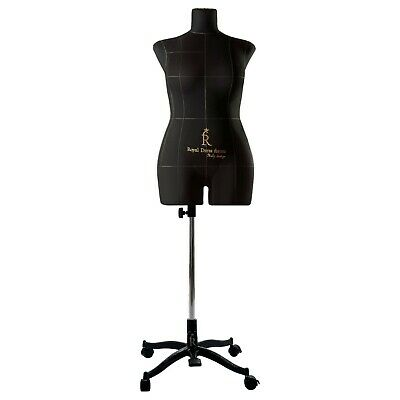 Eva Female Fully Pinnable Sewing Dress Form Soft Tailor Mannequin Black XL Size
