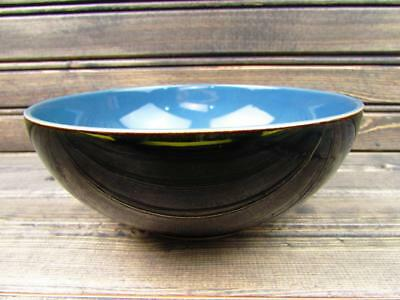 Duets Black and Blue by Denby-Langley Soup Cereal Black Rim Blue Center B86