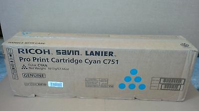 New Genuine RICOH SAVIN LANIER Pro Print C751 Cyan Toner Cartridges