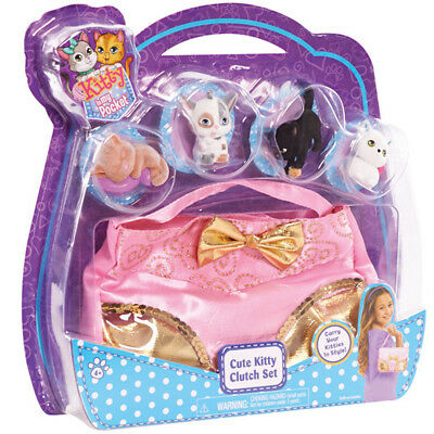 Kitty in My Pocket Cute Clutch Set Includes 4 Collectible Kittens NEW