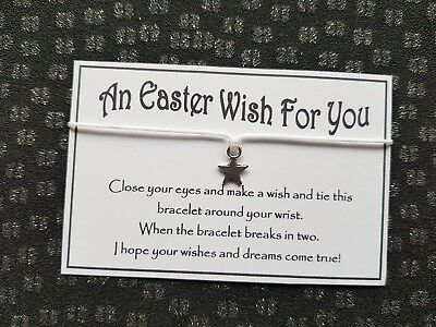 Wholesale * Job Lot * Bulk * Easter Wishes * Wish Bracelet * Friendship * Gift