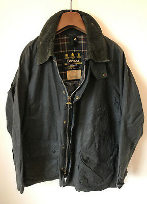 Barbour Bedale Wax Jacket! Mens M/l Blue! Coat! 44-46 Chest! Beaufort!