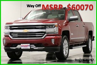 2018 Chevrolet Silverado 1500 MSRP$60070 4X4 High Country DVD Sunroof Red Crew 4WD New Navigation Heated Cooled Leather Cajun Tintcoat Mylink 17 2017 18 Cab 5.3L