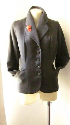1940,s grey wool flannel fitted jacket by Apollo.38 ins bust .