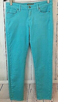 PAIGE TURQUOISE STRETCH Peg Skinny Jeans Low Rise Size 27