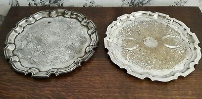 2 Vintage Silver Plated Trays