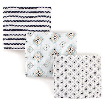 NEW Hudson Baby Muslin Swaddle Blankets, 3 Count, Aztec FREE2DAYSHIP TAXFREE