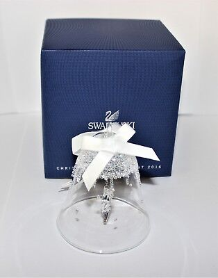 Swarovski Christmas Bell Ornament Large 5221235 Mint Boxed Retired Rare