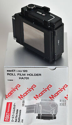 Mamiya RB67 120 roll film back complete boxed