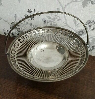 A Vintage Silver Plated Basket Bowl by William Hutton & Sons