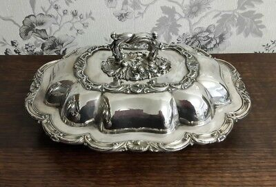 A Beautiful Old Sheffield Plate Ornate Entree Dish, Walker, Knowles & Co C1840