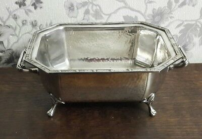 A Beautiful Vintage Silver Plated Footed Bowl by Barker Brothers