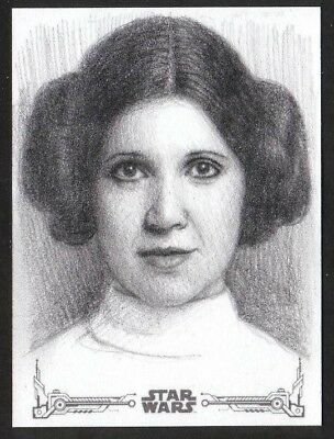 Princess Leia Topps Star Wars New Hope Artist AP Artist Proof Sketch Card A.Fry