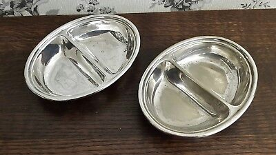 A Pair of Vintage Silver Plated Sectional Serving Dishes, Hotel Ware