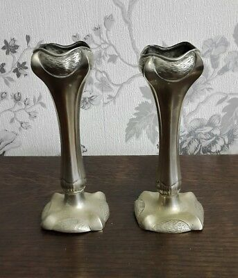 A Pair of Vintage Silver Plated Candlesticks
