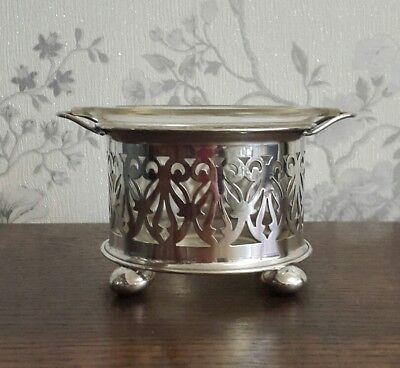 A Vintage Silver Plated Jar Holder with Pyrex Jar