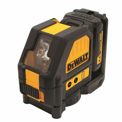 DeWalt DW088LR 12V Li-Ion Rechargeable Self-Leveling Red Cross Line Laser New