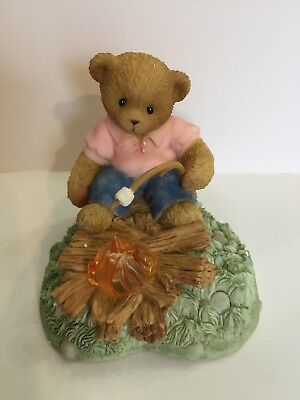 "Cherished Teddies KATE ""Warming By The Campfire on a Velvet Night"" Figurine"