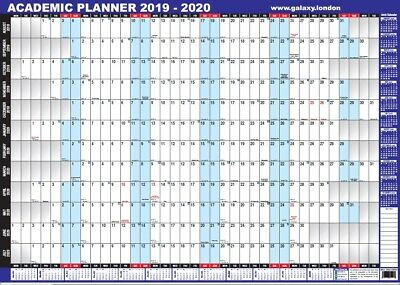 A1 2018-2019 unmounted ACADEMIC mid year wall planner school college university