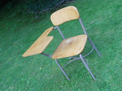 Antique vintage school desk chair from late 1960s-nice!