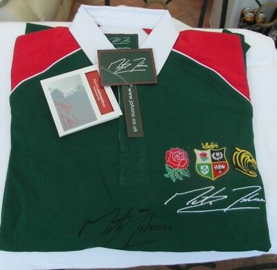 Martin Johnson. Signed Leicester Tigers Rugby Shirt. Limited edition.