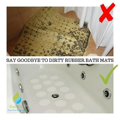 Non Slip Bath Mat Shower Tray Safety Strong Stickers Non Rubber Bathtub