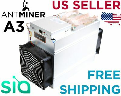 Bitmain Antminer A3 Blake2b 815GH/s Miner ASIC Siacoin TESTED WORKING