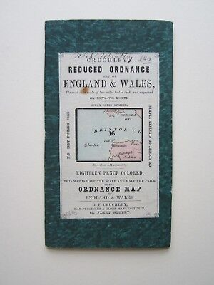 Cruchley's Reduced Ordnance Survey Map North Somerset #16 c1854