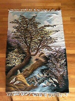 Stunning Hand Woven Wool Tapestry Large Wall hanging Rug Excellent condition.