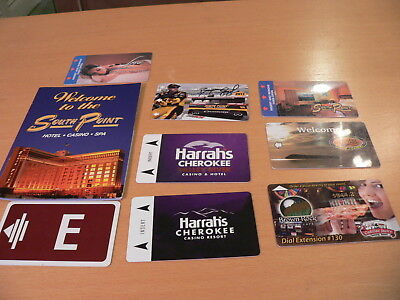 8 Casino Hotel Key Card SouthPoint Harrahs Sands Cadillac Jack Brown Rock Pizza
