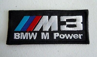 BMW Motorsport M3 M Power Embroidered Sew-On  Car Patch 3""