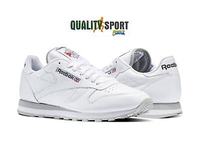 Reebok Classic Leather Bianco Scarpe Shoes Uomo Sportive Sneakers 2214 db98892637b