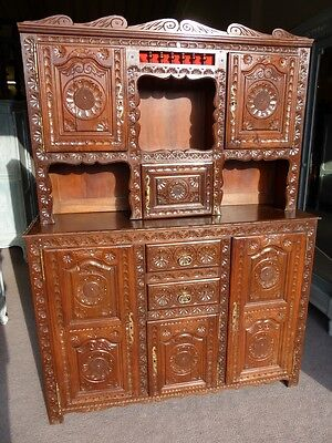 French Period Breton Dresser sideboard bookcase solid oak