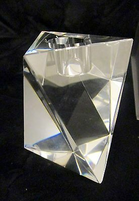 Oleg Cassini Designer Crystal Star signed Candle Stick Holder 119641 NIB Clear