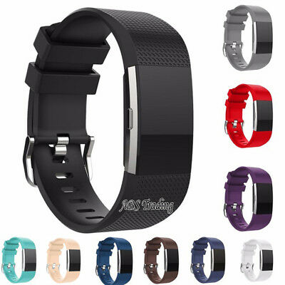 Replacement Watch Sport Strap for Fitbit Charge 2 Band Silicone UK - 2 Sizes