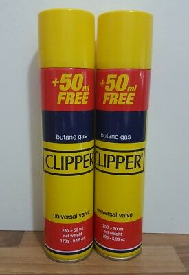 300Ml Genuine Clipper  Butane Gas  Refills Lighters Universal Valve Fit To All