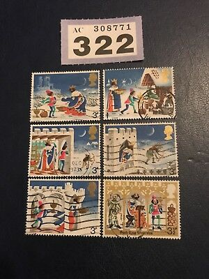 GB Stamps 1973 Christmas 'used set'