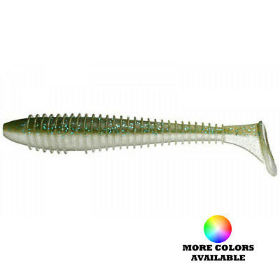 """Keitech Swing Impact Fat 4.8"""" Paddle Tail Swim Bait 6-Pack - Pick Color"""