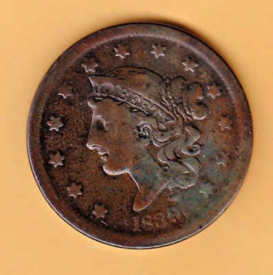 Nice 1839 Silly Head Large Cent.